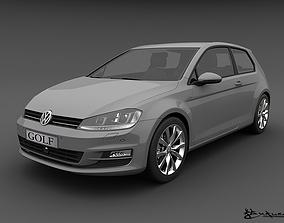 Volkswagen Golf 3 doors 2013 3D model