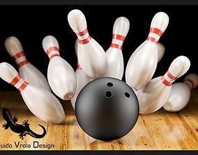 3D model Bowling scene