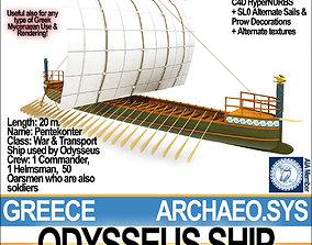 3D Greek Homeric Odysseus Ship