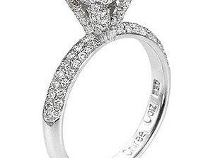 diamant 3D print model Solitary Ring