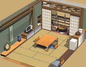 3D model Japanese Standard Inexpensive Inn