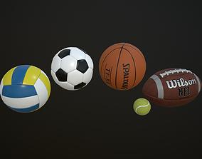 Gaming balls 3D asset