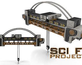 SCI FI Overhead Crane 3D model
