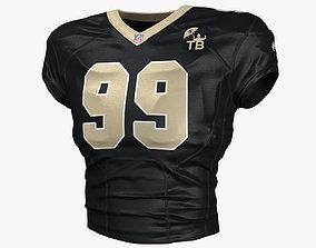 3D New Orleans Saints Football Top Uniform