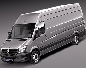 Mercedes Sprinter long high 2014 3D model