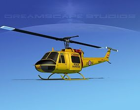 Bell UH-1B Iroquois Canada Rescue 3D model