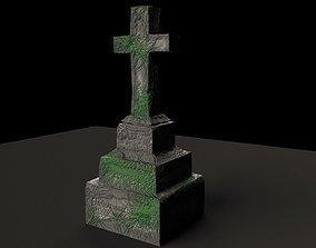 Graveyard Tombstone Cross 3D model