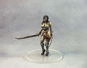 warrior woman 3D print model - 35 mm scale