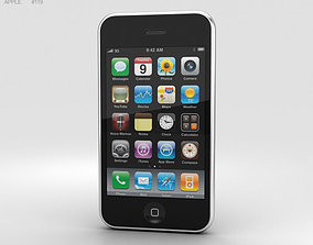 Apple iPhone 3G Black 3D