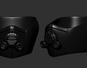 gas mask helmet scifi high poly sculpt ver 4 3d