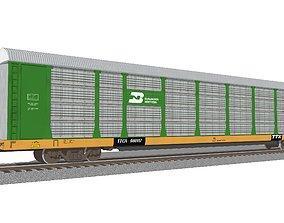 3D Train Car - Car Carrier - Burlington Northern
