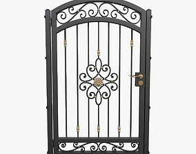 3D model Wrought iron gate 04