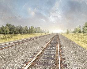 Railway Tracks Pack 3D model