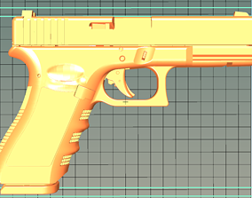 3D printable model PISTOL GLOCK 17