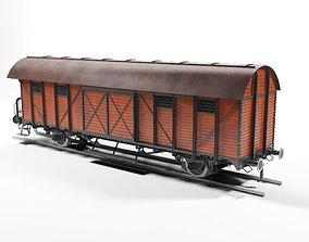 3D Unio 1937 Boxcar Wagon