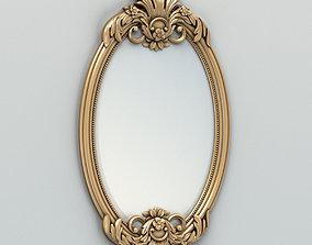 3D model Oval mirror frame 002