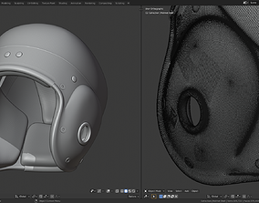 3D print model Vintage Football Helmet