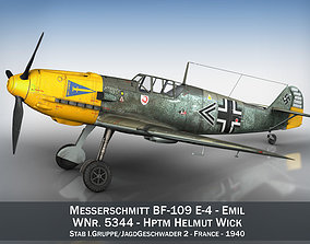 3D model Messerschmitt - BF-109 E - JG2