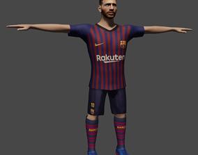 3D asset Lionel Messi-rigged