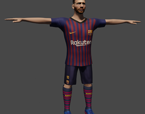 3D asset Lionel Messi-rigged