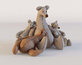 3D Toy bears textile bears family sports