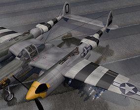 Lockheed P-38J Lightning 3D model