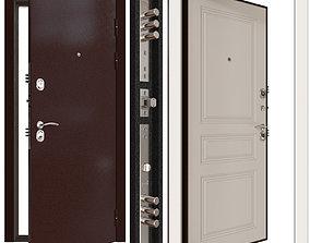 3D model Metal entrance door