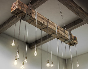 Wooden Chandelier 3D