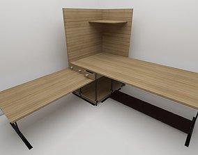 Corner Computer Desk 3D printable model