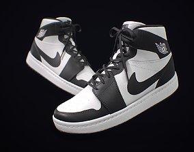 Sneaker Nike Air Jordan Black White 3D model