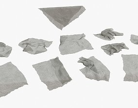 Old Fabric Cloth Assets 01 low-poly