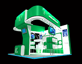 stall design 3D model game-ready