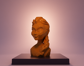 3D printable model elsa frozen