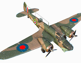 British Light Bomber Bristol Blenheim Mk IV 3D asset