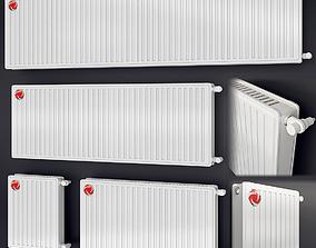 steel heating radiator Vogel 3D model