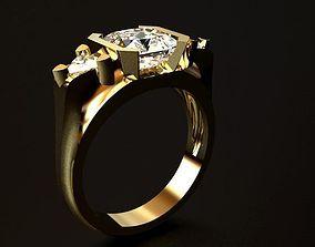 3D printable model Diamond Ring gold