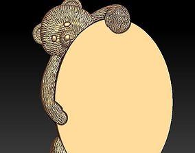 frame of bear 3D model