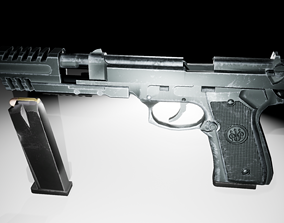Beretta Compensator firearm 3D model