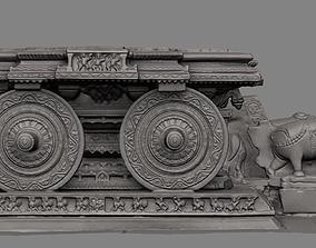 3D printable model Stone Chariot Hampi replica