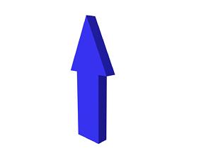 Arrow painted 3D model