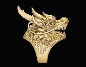 2392 Gold Dragon Ring 3D print model