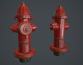 3D model Fire Hydrant PBR Game Ready