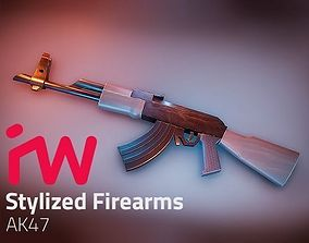 Stylized AK47 3D asset