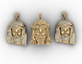 Jesus head pendants pack 3D print model