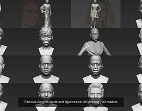 Famous Singers busts and figurines for 3D