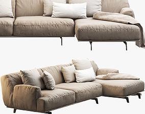 Poliform Tribeca sofa with chaise longue 3D
