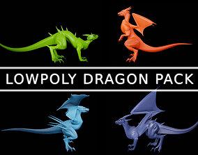 3D model Lowpoly Dragon Pack