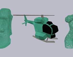 3D Print models triple pack 01