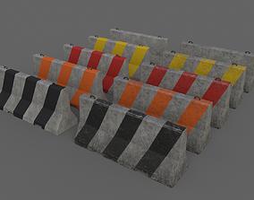 PBR Concrete Barrier V2 3D model