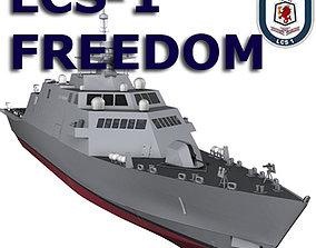 US Navy Littoral Combat Ship LCS-1 Liberty 2007 3D model